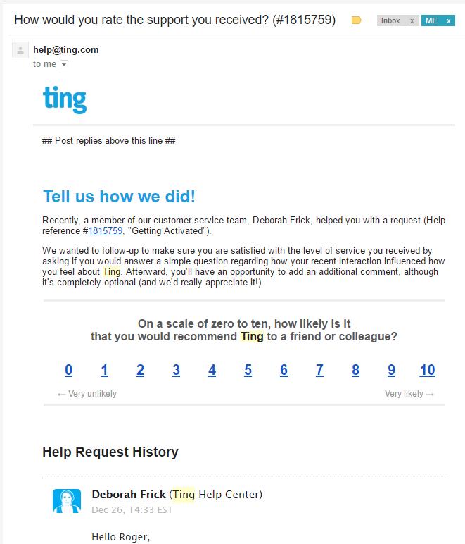 Customer Satisfaction Survey Email