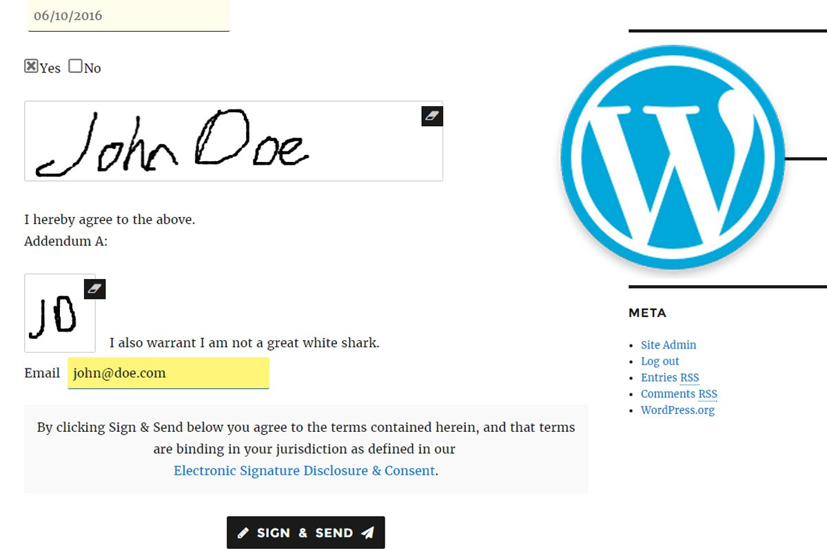 WordPress e-Signature Software