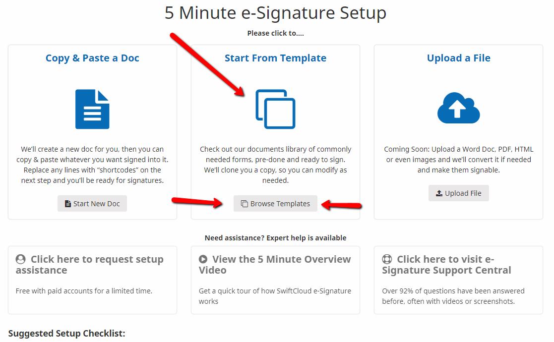 e-sign templates
