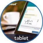 eSign on Tablet